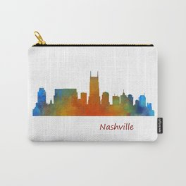 nashville city skyline Tennessee watercolor v1 Carry-All Pouch
