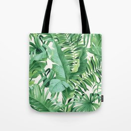 Green tropical leaves III Tote Bag