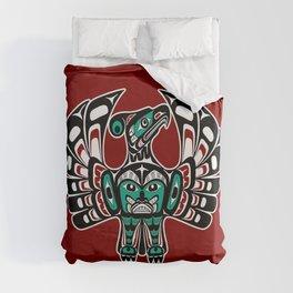 Northwest Pacific coast Haida art Thunderbird Duvet Cover