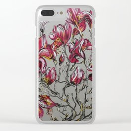 You left while the magnolias were in bloom Clear iPhone Case