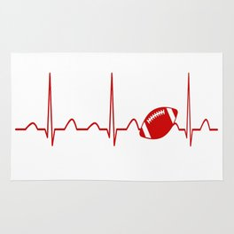 FOOTBALL HEARTBEAT Rug