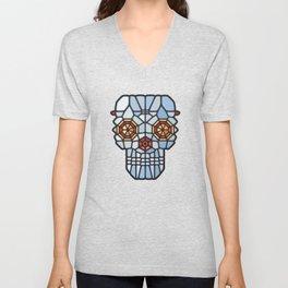 Crystal skull - Voronoi Unisex V-Neck