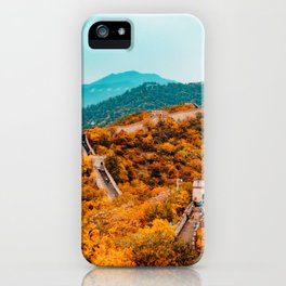 The Great Wall of China in Autumn (Color) iPhone Case