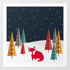 Foxy Tales Art Print