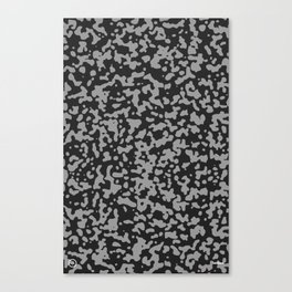 Comp Camouflage Pattern / Black Canvas Print