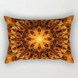 Gold Light Gateway Mandala Rectangular Pillow