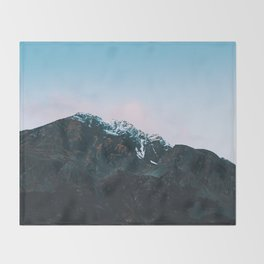Dawn Mountain - Kenai Fjords National Park Throw Blanket