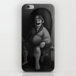 Portrait of a Plumber iPhone Skin