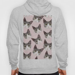 girly cute pink pattern snowshoe cat Hoody