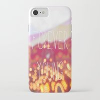 forever young iPhone & iPod Cases featuring Forever Young by KrashDesignCo.