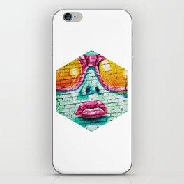 Graffiti Beauty - Geometric Photography iPhone Skin