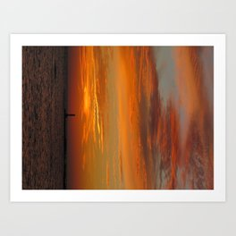 Sunset in Michigan Art Print