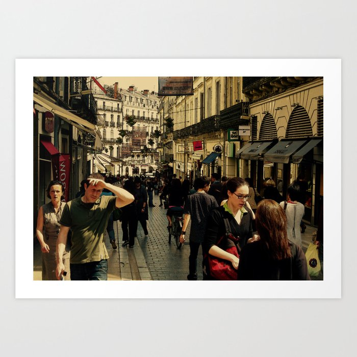 Alone & Together in Montpellier Art Print