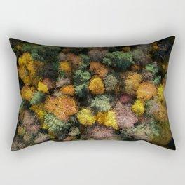 Autumn Forest - Aerial Photography Rectangular Pillow