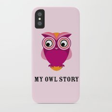 My owl story iPhone X Slim Case