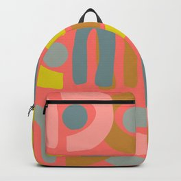 Abstract Shapes in Coral Backpack