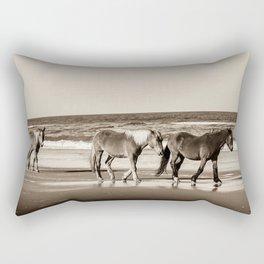 Horses of OBX Rectangular Pillow