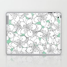Cherry Blossom With Mint Blocks - In Memory of Mackenzie Laptop & iPad Skin