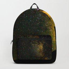 Beautiful Yellow Milky way Galaxy At Night Stars Sky Landscape Photography Backpack