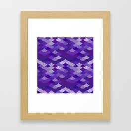 Ultra Violet wave, abstract simple background with japanese seigaiha circle pattern Framed Art Print