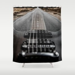 SEMI HOLLOW ROADTRIP Shower Curtain