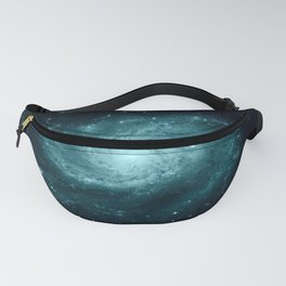 Spiral gALAxy Teal Fanny Pack
