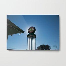 Magnolia Gasoline Vintage Visible Pump Vega Texas Metal Print