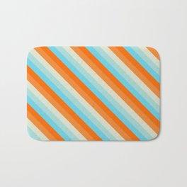 Goldfish Diagonal Striped Pattern Bath Mat