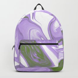 Genderqueer Pride Abstract Marbled Colors Backpack