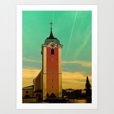 The village church of Neufelden V | architectural photography Art Print