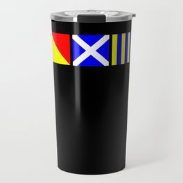Nautical Flags | OMG Oh My God! Travel Mug