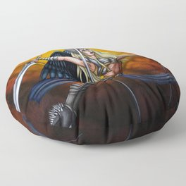 Pole Creatures: Valkyrie Floor Pillow