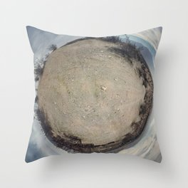 360 Photograph - Desertsphere No. 1 Throw Pillow
