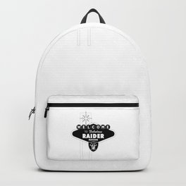LAS VEGAS RAIDERS SIGN WHITE STAND Backpack
