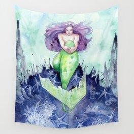 Reef Mermaid Wall Tapestry