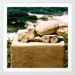 """""""Cement"""" Truck Art Print"""