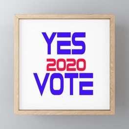 Yes Vote 2020 Framed Mini Art Print