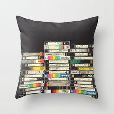 VHS Stack Throw Pillow