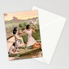 """Classical Masterpiece """"Egyptian Fowlers in Boat on the Nile"""" by Herbert Herget Stationery Cards"""