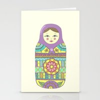 russian Stationery Cards featuring Russian Doll by haleyivers