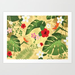 Tropical Flower Background 2 Art Print