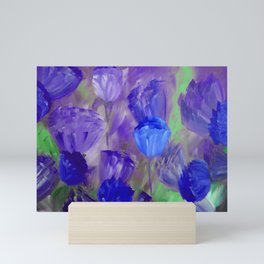 Breaking Dawn in Shades of Deep Blue and Purple Mini Art Print