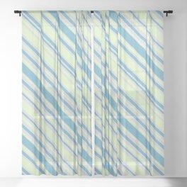 Diagonal Stripes Background 4 Sheer Curtain