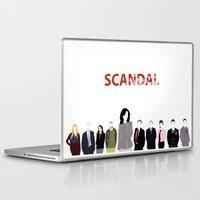 scandal Laptop & iPad Skins featuring Scandal Minimalism by Bel17