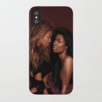 nicki iPhone & iPod Cases featuring Bey & Nicki by Tyler Simien