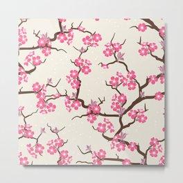 Pink Beautiful Floral Spring Blossom Metal Print
