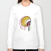 headdress Long Sleeve T-shirts featuring Headdress by Relic X