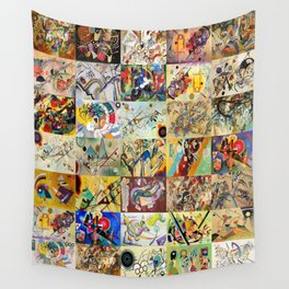 Wassily Kandinsky Montage Wall Tapestry