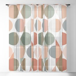 Mid Century Rhombus Sheer Curtain