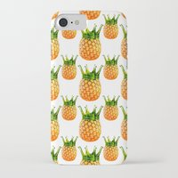 pinapple iPhone & iPod Cases featuring kingapple by sustici